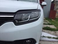 Реснички на фары черные Renault Logan Sandero Stepway 2014-